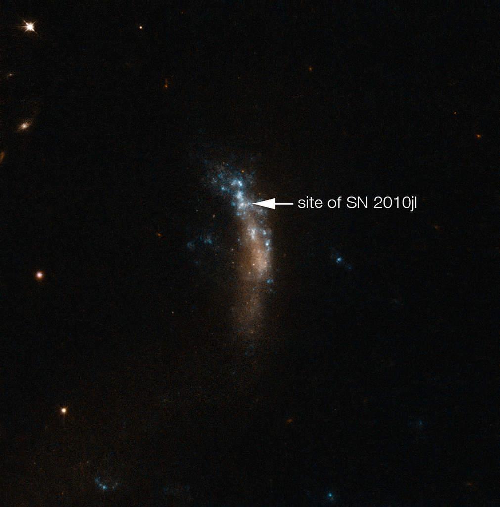 Galaktyka UGC 5189A i supernowa SN 2010jl