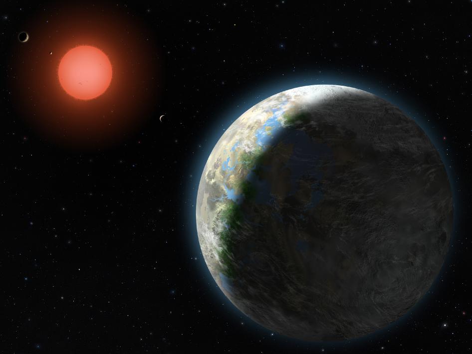 Wizja artysty układu Gliese 581