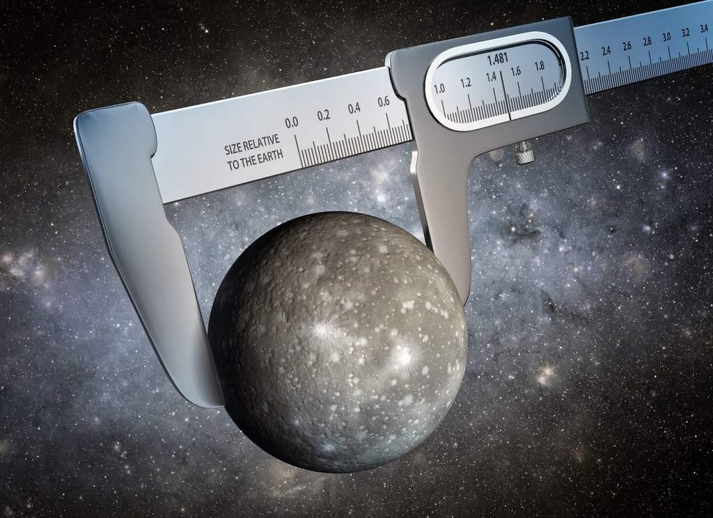 Metaforyczna wizja artysty ukazująca pomiar promienia planety Kepler 93b
