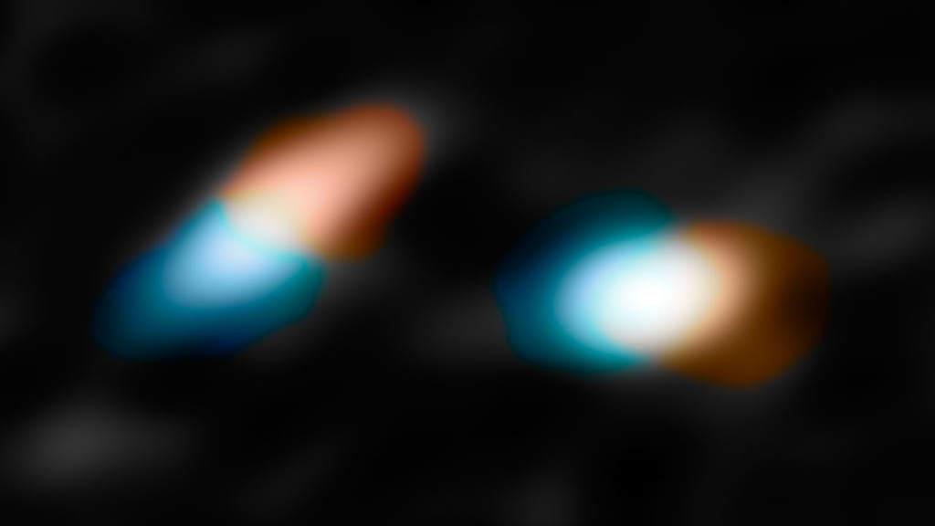 Ruch dysków protoplanetarnych wokół gwiazd układu HK Tauri