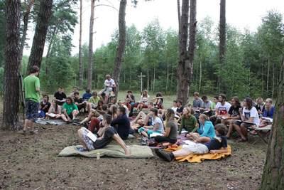 Obóz dla starszych 2014: uczestnicy podczas wykładu z matematyki
