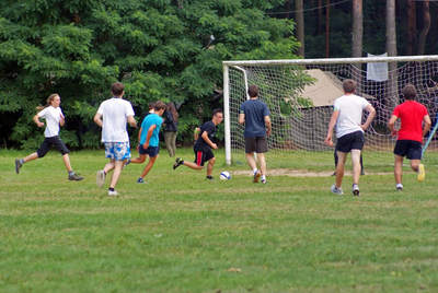 Mecz piłkarski - obóz nowego naboru 2014