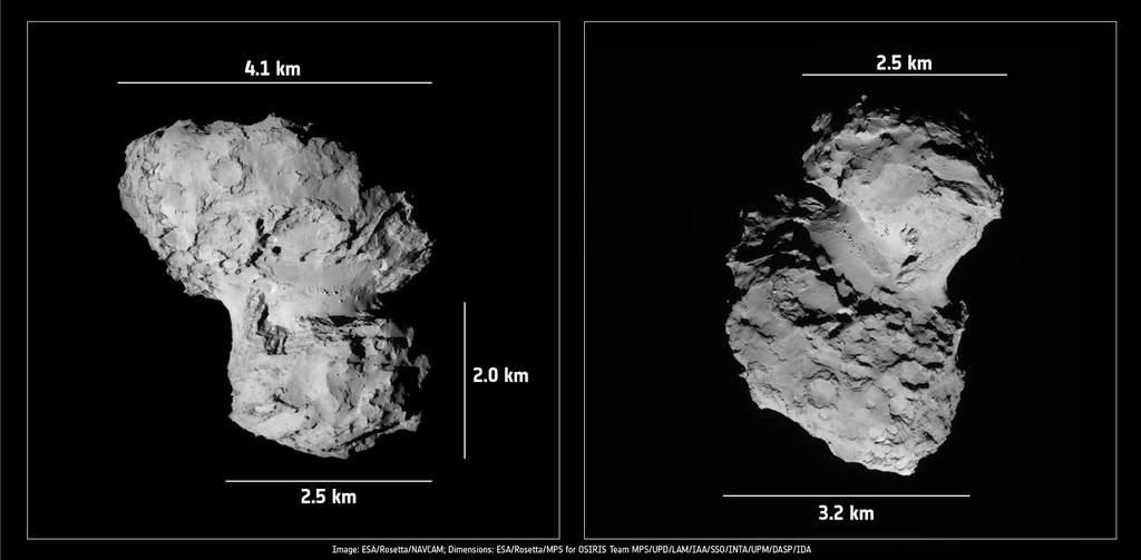 Rozmiary komety 67P