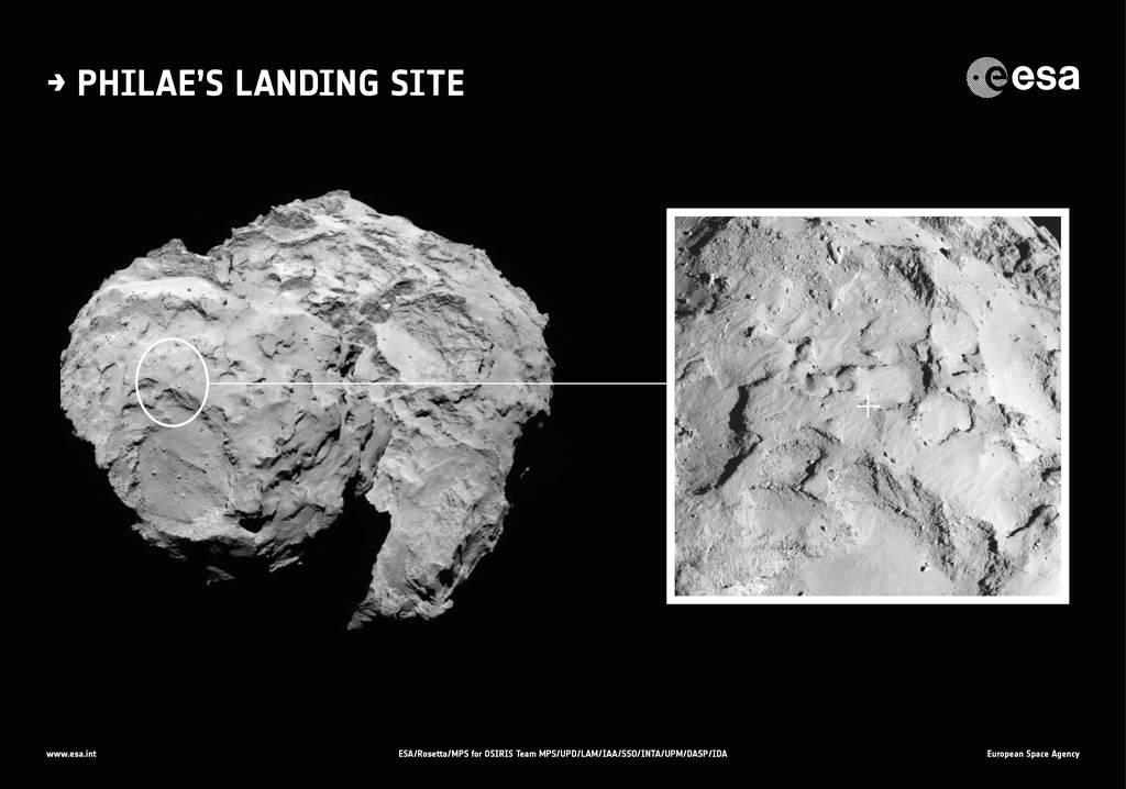 Lądowisko Philae nakomecie 67P