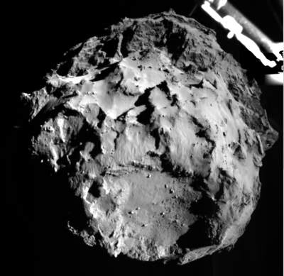 ROLIS fotografuje powierzchnię komety z 3 km
