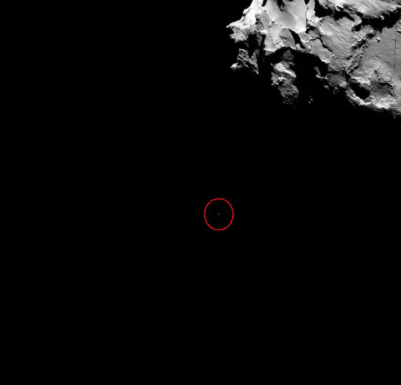Philae w drodze na powierzchnię komety