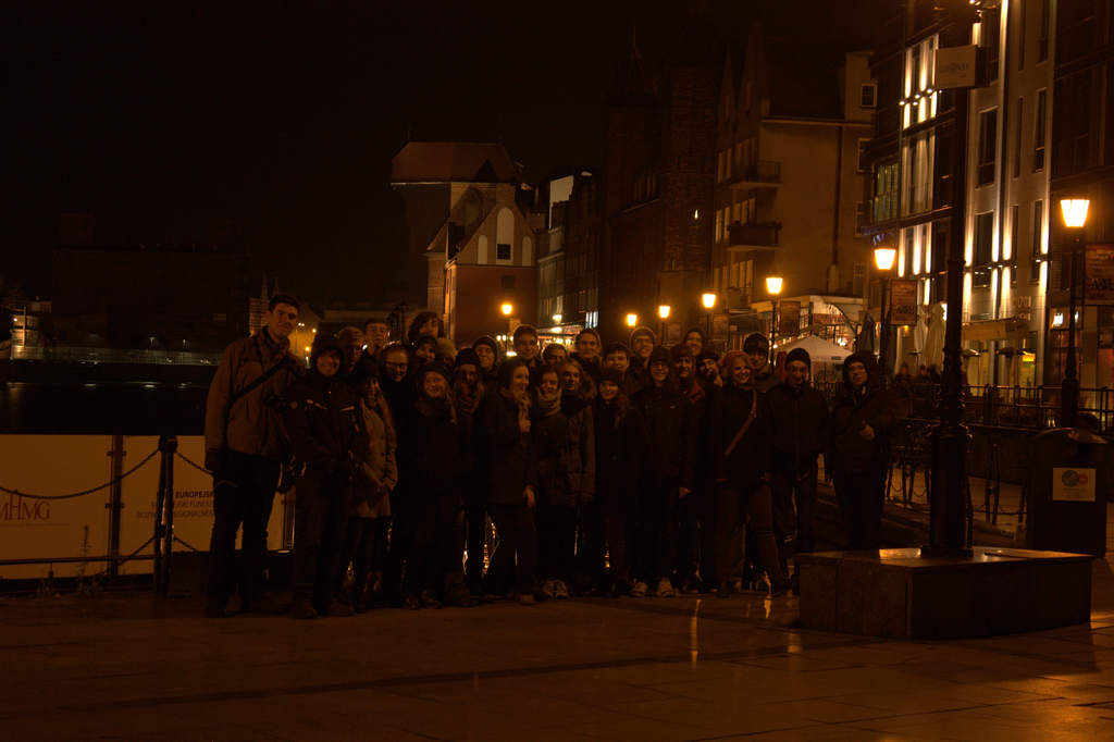 Seminarium Gdańsk 2014 - uczestnicy podczas wieczornego spaceru