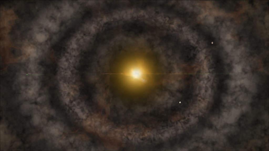 Wizja artystyczna dysku protoplanetarnego