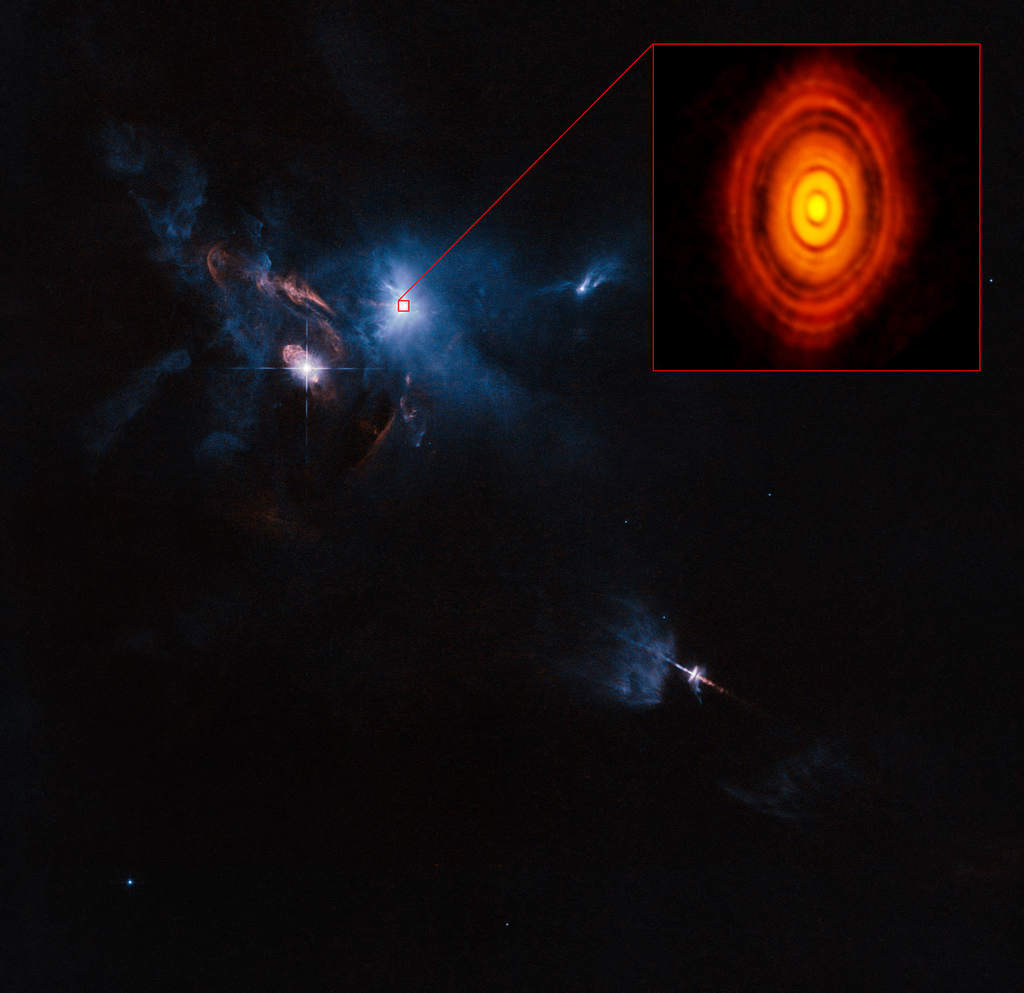 Okolice gwiazdy HL Tau