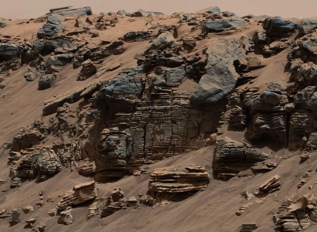 Warstwy sedymencyjne na Marsie