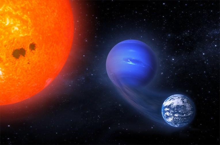 Wizja artystyczna transformacji mini-Neptuna w planetę zdatną do zamieszkania