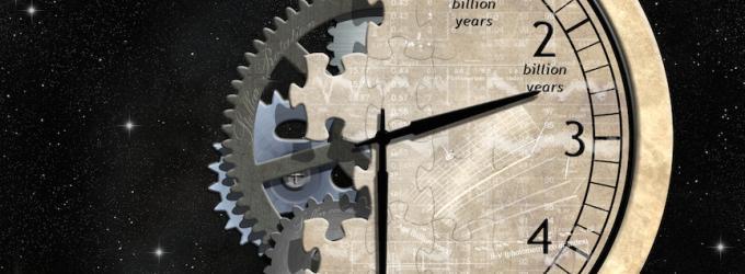 Artystyczna wizja ukazująca zegar.