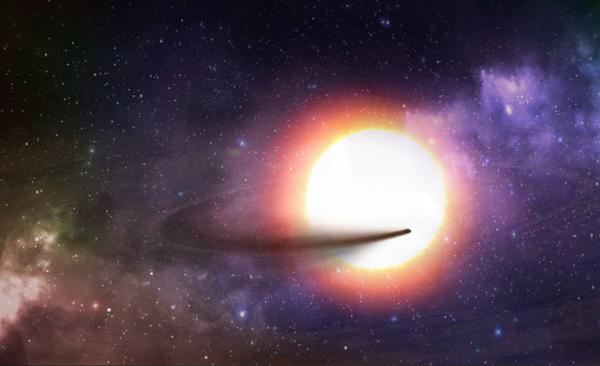 Wizja artystyczna egzoplanety KIC 1255 b