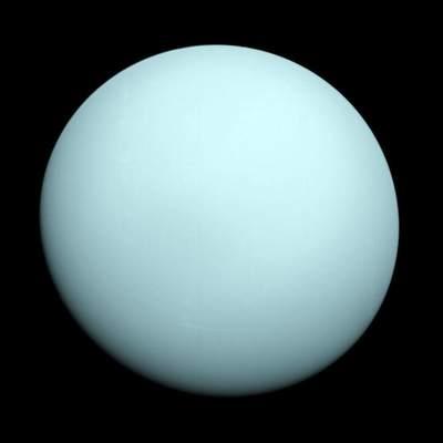 Uran - zdjęcie wykonane przezsondę Voyager 2