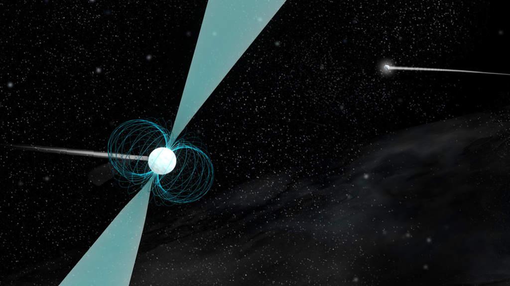 Artystyczna wizja pulsara PSR J1930-1852