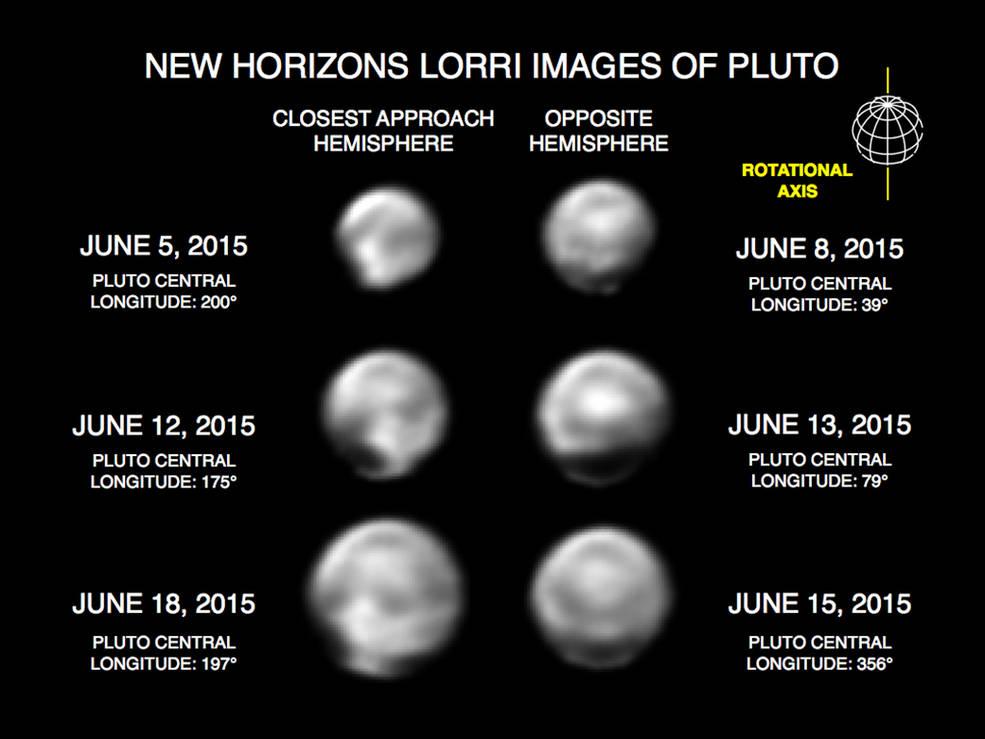 Zdjęcia Plutona wykonane przez New Horizons