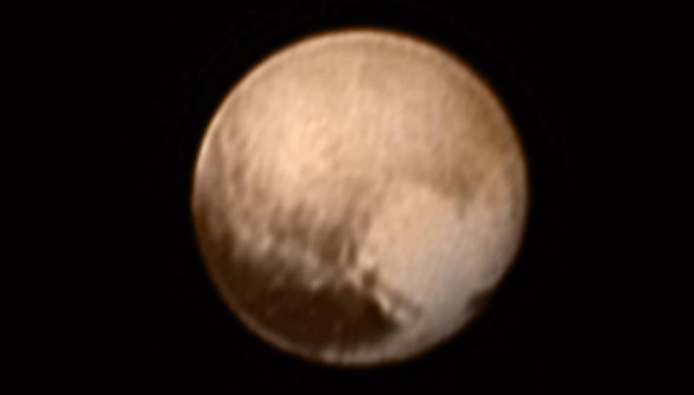 Zdjęcie Plutona z LORRI otrzymane 8 lipca