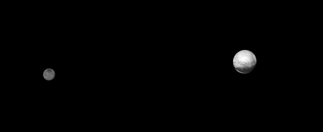 Pluton i Charon z odległości 6 mln km
