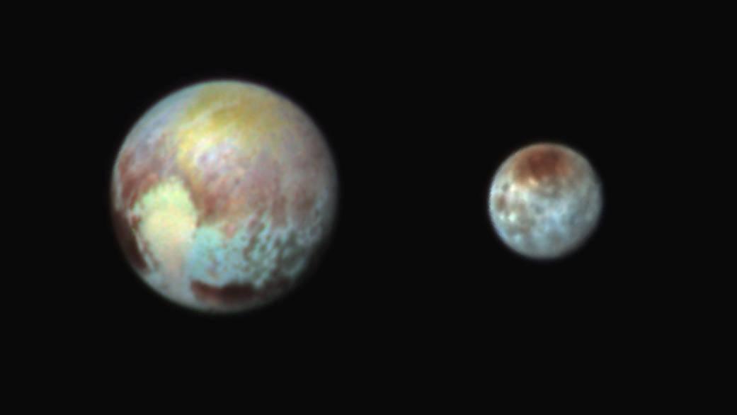 """Zdjęcie Plutona i Charona uzyskane zostało 13 lipca za pomocą instrumentu """"Ralph"""""""