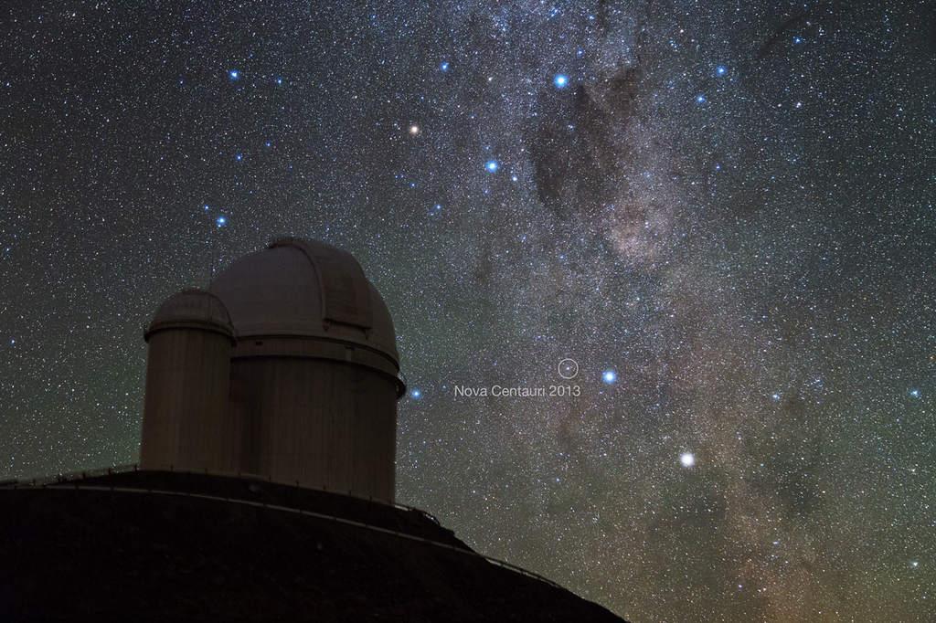 Nova Centauri 2013 widoczna zLa Silla