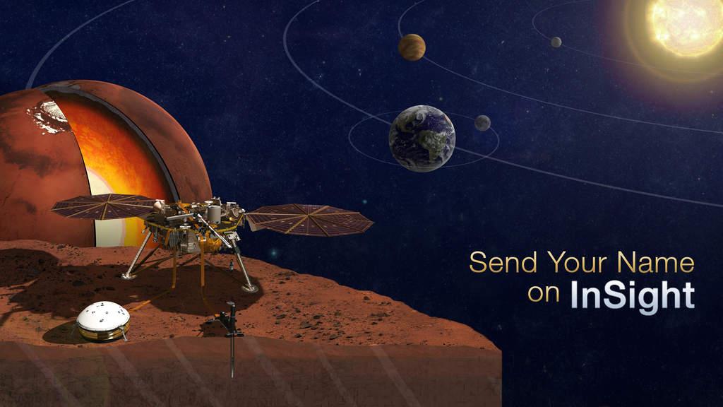 Wizja artystyczna NASA InSight Mars Lander.