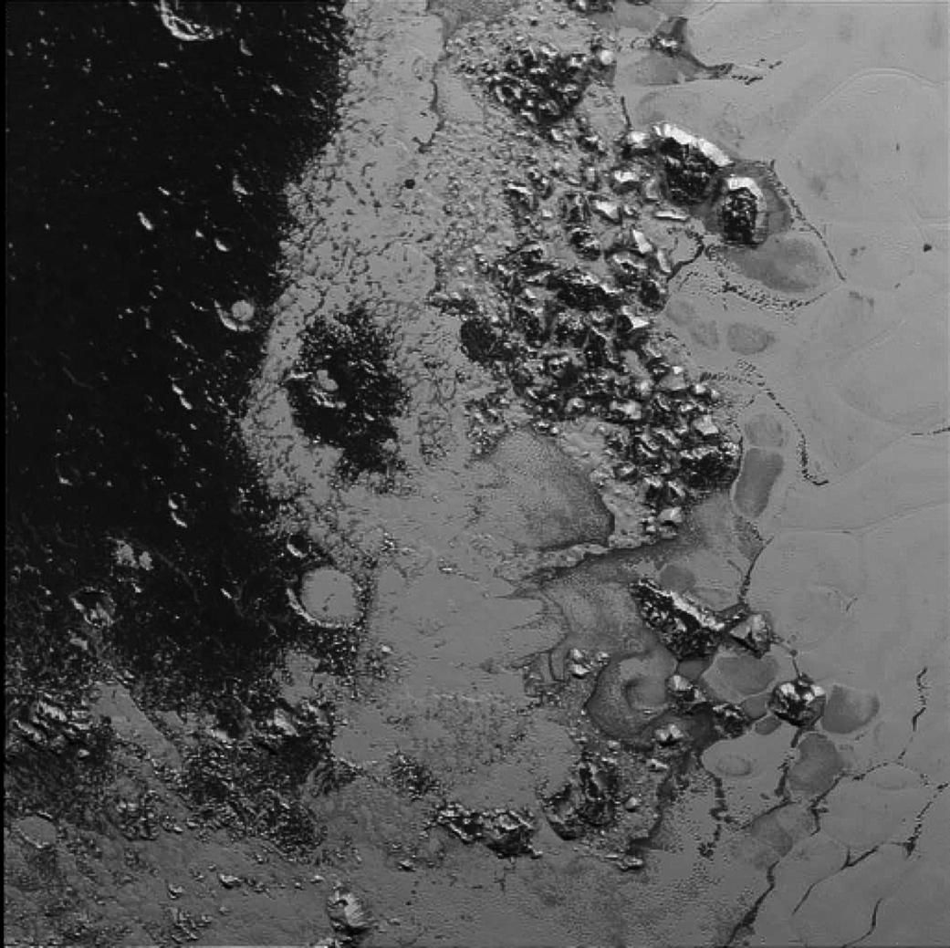 Pasmo górskie na powierzchni Plutona