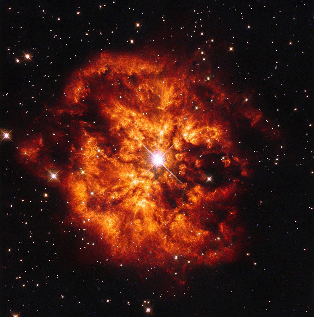 Mgławica M1-67 z gwiazdą WR 124