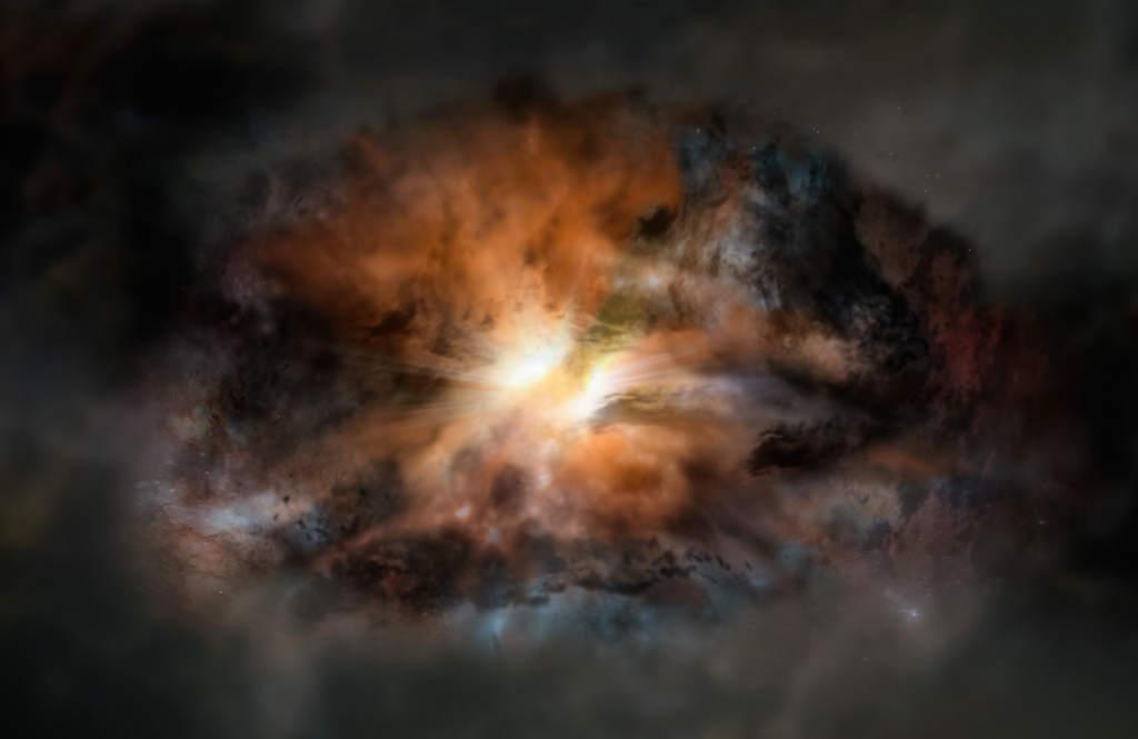 Galaktyka W2246-0526 - wizja artysty