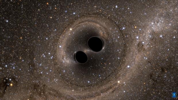 Zderzenie dwóch czarnych dziur - wielkie wydarzenie wykryte po raz pierwszy w historii przez LIGO.