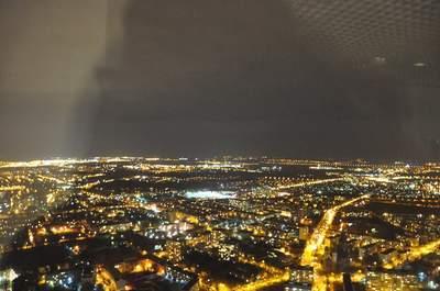 Po sesji referatowej, nakoniec dnia wyjechaliśmy na49. piętro Sky Tower ipodziwialiśmy nocny Wrocław.
