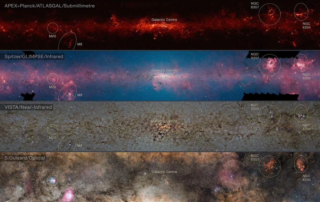 Centralne obszary Drogi Mlecznej - porównanie