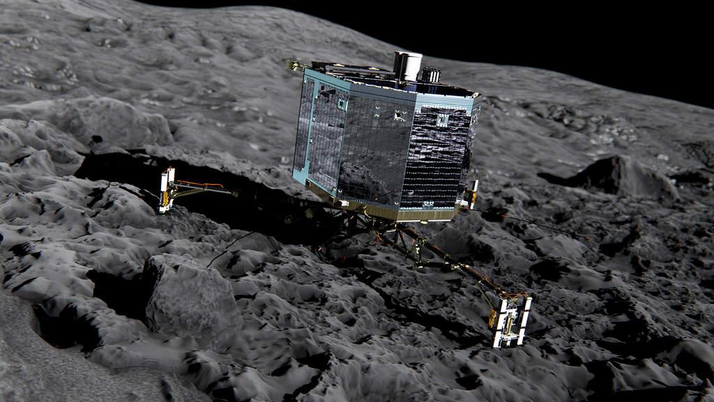 Artystyczna wizja lądownika Philae.