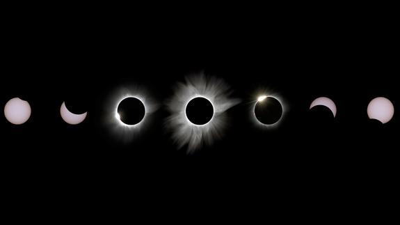 """Szczęśliwi obserwatorzy zarejestrowali tak wspaniałe zjawiska, jak korona słoneczna i """"pierścień z diamentem"""" (fot. Justin Ng)."""