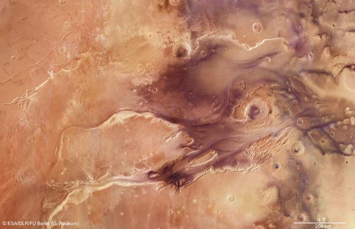 Kasei Valles - system kanionów na Marsie.