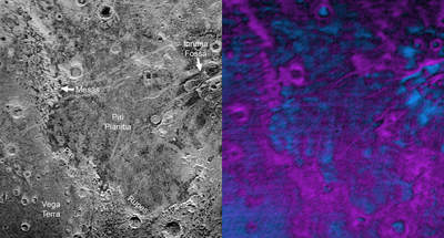 Pluton - obecność metanu i lodu wodnego