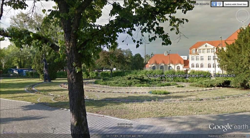 Skwer przy ul.Kopernika wBydgoszczy