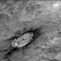 Krater Basho - Merkury