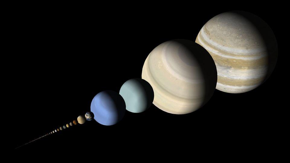 Różnorodność wielkości ciał niebieskich