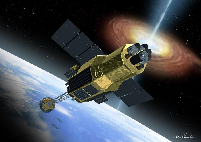 Wizja artystyczna satelity Hitomi.