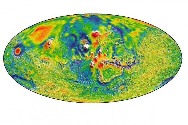 Mapa grawitacyjna Marsa
