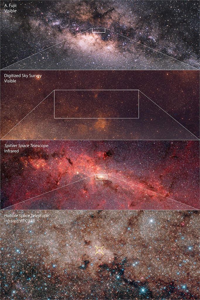 Powiększenie centrum Drogi Mlecznej