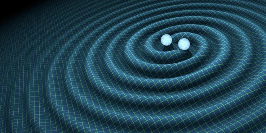 Układ podwójny czarnych dziur wytwarza fale grawitacyjne