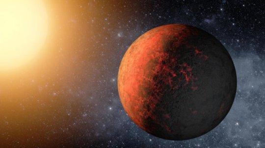 Koncepcja artystyczna egzoplanety.