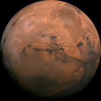 Zdjęcie Marsa z wyeksponowaną Doliną Marinera