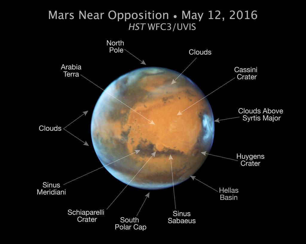 Nowy obraz Marsa ukazujący główne cechy jego krajobrazu.