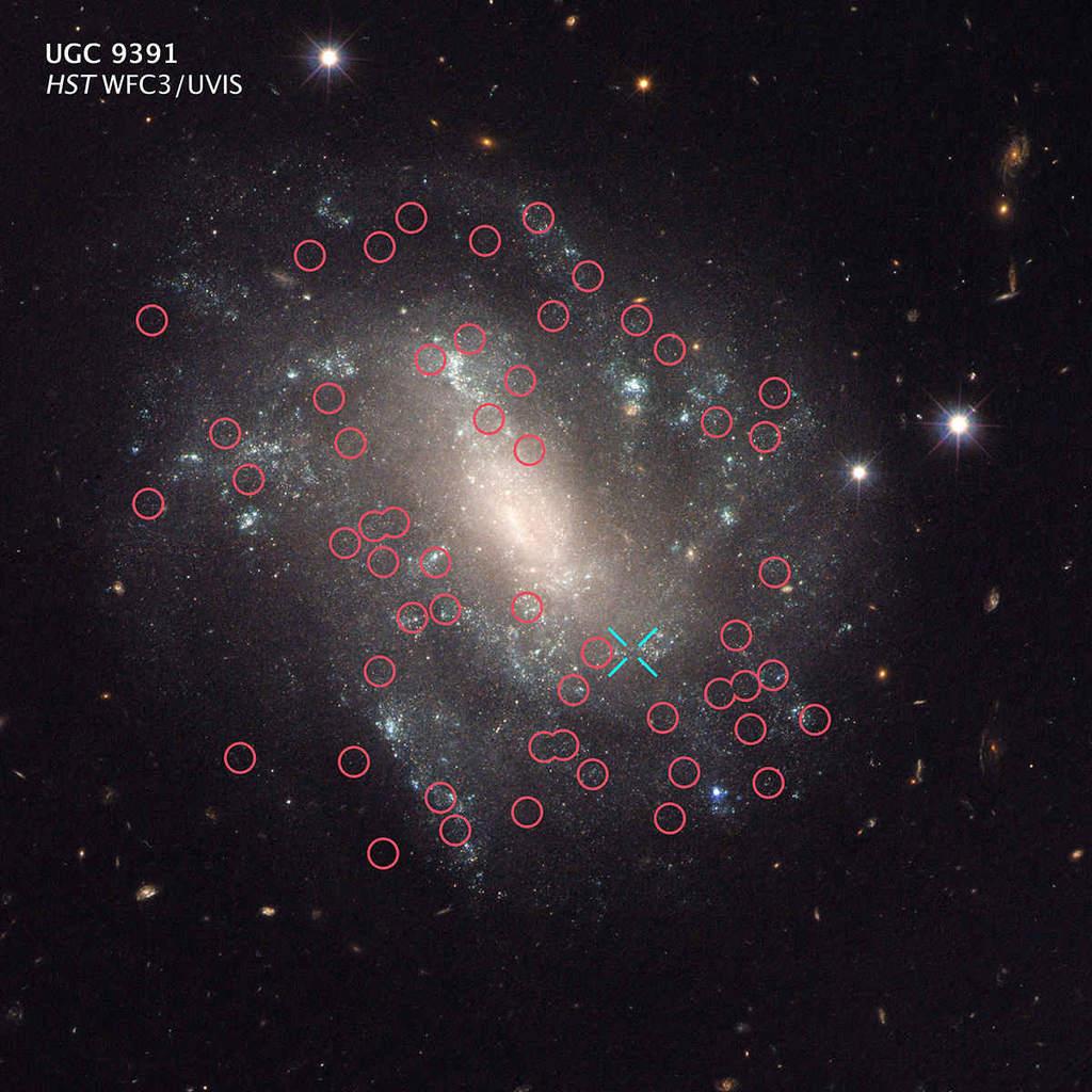 UGC 9391 - cefeidy i supernowe Ia