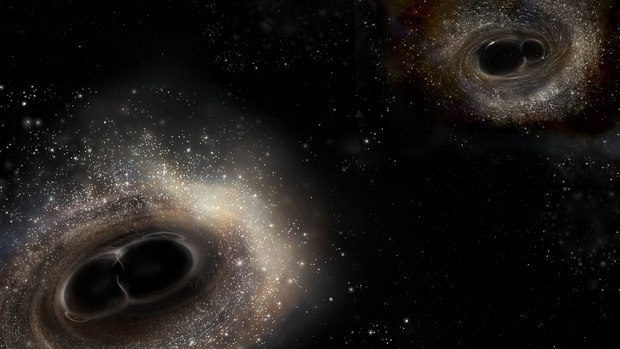 Zderzenie czarnych dziur wykryte przez LIGO